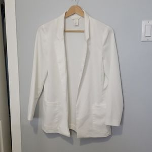 H&M light and white blazer